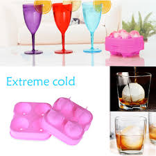 whiskey cocktail ice cube ball maker mold 4 large sphere mold silicone