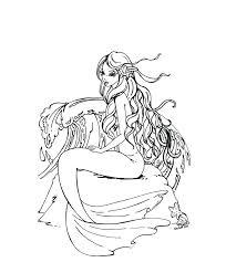 Free Mermaid Coloring Pages And Seahorses Barbie Mermaid Tale 2 Free