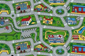 kids rugs with roads area rug ideas amazing children s road modest 7