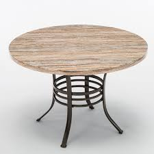 45 round dining table kitchen pub bistro table solid wood metal furniture new