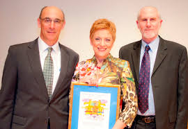 Mermelstein winner with CEO and Board chair | Jewish Family and Community  Services of Pittsburgh