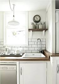 grout subway tile backsplash white tile kitchen