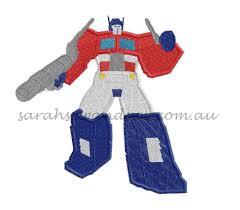 Optimus Prime Embroidery Design Optimus Prime Embroidery Design