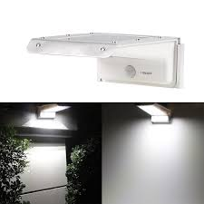 led sopotek bright solar powered motion sensor light outdoor garden patio path wall mount gutter fence security how to build window s lights standard