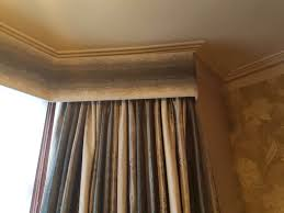 c covered curtain pelmet