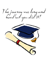 The Journey Was Long And Hard Graduation Free Printable Greeting Cards