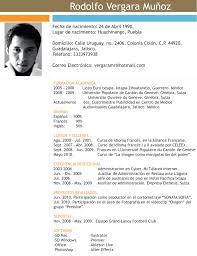 Curriculum Vitae In English Meaning Cv Resume Biodata Samples