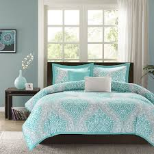 image of nice aqua bedding sets