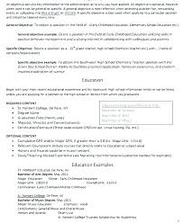 Example Resume For Teachers Impressive Teacher Resume Objective Statement Teacher Objective Resume