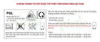 Đèn Led Tube - Nội Dung Ghi Nhãn Bắt Buộc Theo QCVN 19 - Tập Đoàn Phúc Gia®