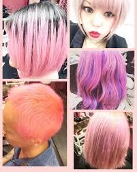 Pink Colourピンクアッシュ派手髪ピンクベージュピンク系カラー