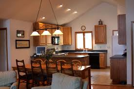 kitchen lighting ideas vaulted ceiling