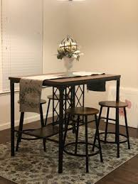 5 piece dining table with wine glass rails storage for in visalia ca