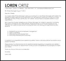 Cover Letter For Assistant Facility Manager Fitness Manager Cover