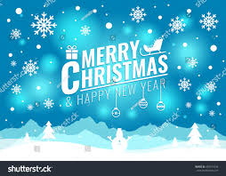 merry christmas and happy new year cards. Brilliant Christmas Merry Christmas And Happy New Year Card  Tree Snow Snowman  On Blue Light With And Happy New Year Cards E