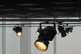 how track lighting works. Download Studio Lighting System With Follow Spotlights At Works Stock Photo - Image Of Spotlights, How Track
