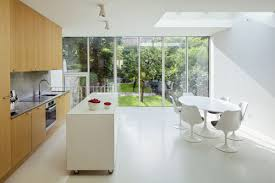 White Floor Kitchen France Kitchen Design Appealing Hanging Lamp Hung Above Island At