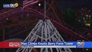 Man Atop Supreme Scream Ride At Knott's ...