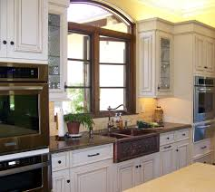Faux Finish Cabinets Kitchen American Woodmark Cabinets Kitchen Traditional With Hammered Sink