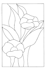 Stained Glass Flower Patterns Impressive Stained Glass Drawing At GetDrawings Free For Personal Use