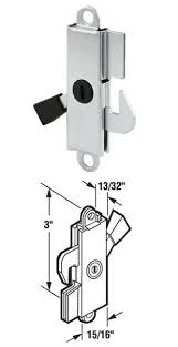 sliding glass patio door internal lock with plastic tip