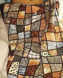 Twin Size Bed Quilt Jungle Animal Prints in Mosaic Crazy & Like this item? Adamdwight.com
