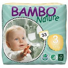 Bambo Nature Baby Diapers Classic Size 3 11 20 Lbs 198 Count 6 Packs Of 33