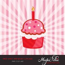 Free First Birthday Cupcake Clipart Mujka Clipart Printable