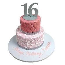 Sweetsixteen Birthday Cakes Sweet 16 Cake Ideas Girl Lightfantastic