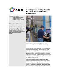 Precision Machine And Design A Cutting Edge Facility Upgrade For A High Precision Machine