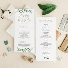 Wedding Programs Template Free 14 Wedding Program Templates Psd Ai Free Premium