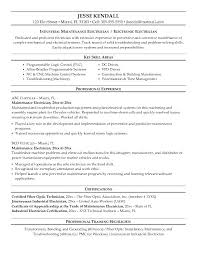 Electrician Resume Custom Example Maintenance Electrician Resume Sample Samples Hotel Manager