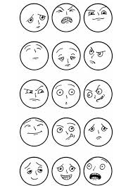 Disegno Da Colorare Espressioni Facciali Arte Espressioni