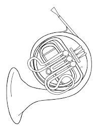 Geluid Kleurplaat French Horn Audio Stories For Kids Free Coloring