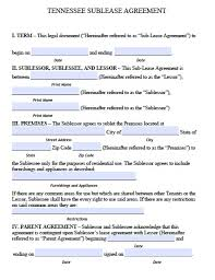 Apartment Sublease Template Residential Sublease Agreement Template Apartment Sublease Agreement