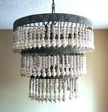 wood bead chandelier world market small medium size of grey beaded