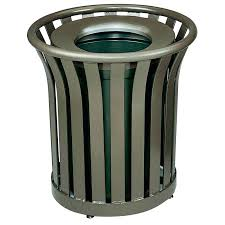 outdoor decorative trash cans can covers patio garbage