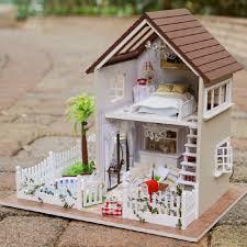 lighting for dollhouses. Assembling Diy Doll House Wooden Houses Miniature Handmade Dollhouse Furniture Kit Room Led Lights Kids Birthday Gift-in From Toys Lighting For Dollhouses