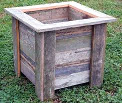 square wooden planter box barn wood planters square square wooden planter