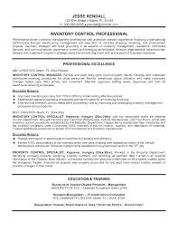 Resume For Inventory Specialist Free Resume Example And Writing