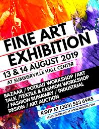 Art Event Flyer Art Flyer Template Colorful Art Exhibition Flyer Template