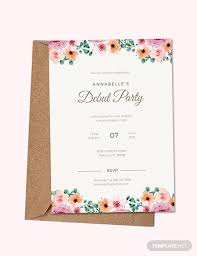 Free Invitation Template Download Free Formal Debut Invitation Template Download 518 Invitations In