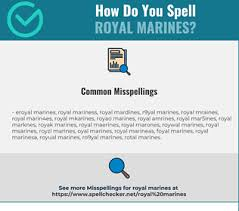 Recommended ipa fonts available on various platforms: Correct Spelling For Royal Marines Infographic Spellchecker Net
