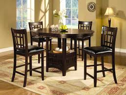 Tall Round Kitchen Table Round Bar Height Dining Room Tables Duggspace
