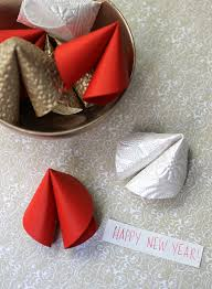 chinese new year diy paper fortune cookies