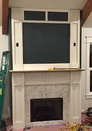 diy faux fireplace surround