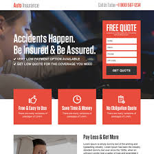 luxury auto insurance landing page design to capture leads and