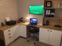 home office diy. Office Photo - Montana Oak \u0026 White Home Diy E