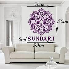 Persönlichen Namen Wandtattoo Schlafzimmer Yoga Mandala Menhdi