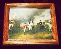 framed revolutionary war painting on canvas surrender at yorktown john trumbull